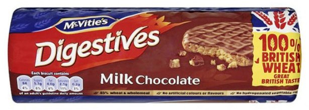 Digestives: the greatest sweet temptation made by UK. I also wouldn't believe if someone took my last one when I politely - and britishly - offered...